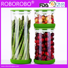 Heat Resistant Borosilicate Glass Storage Glass Jar With Seal Airtight Wood Lid Wholesale