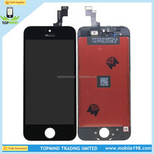 Grade AAA mobile parts for iphone lcd touch for iphone 5S lcd display wholesale price