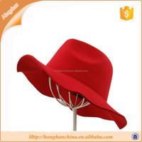 "Winter Wool Felt Fedora Floppy Panama 3-3/4"" Wide Brim Braided Dress Hat"