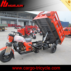 Hydraulic dumping tricycle/3 wheel cargo self-dumping motorcycle for sale