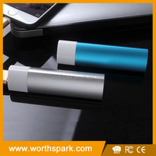 customized mini metal 2600mah manual for power bank