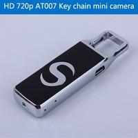 HD 720p AT007 U disk mini camera Alloy micro camcorder Webcam key chain mini dvr hidden audio recording 1600*1200 picture photo