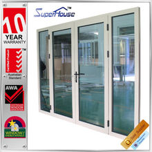 sound proof and weather proof Prefab house modern aluminium door with glass