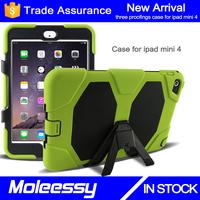 Drop resistance unique dustproof professional hybrid 8 inch tablet pc case for ipad mini 4