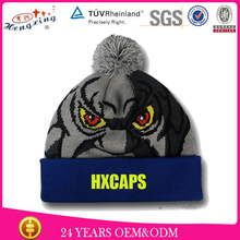 2015 New Style Custom Embroidery Logo Knitted Beanie Hat/High Quality Custom Free Animal Hat Knitting Patterns
