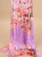 China factory cheap wholesale ladies fashion polyester satin digital printing scarf with silk feeling