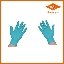 Hot sales!!!! Powder free Nitrile examination gloves with blue black green color