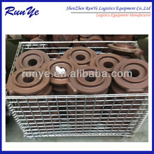 Warehouse metal turnover box roll basket factory