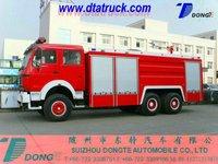 RHD North Benz beiben truck 6*6 water foam fire truck, off road fire truck M: 86-15271357675