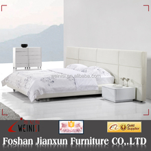 F6147 latest soft leather beds in china white leather bed