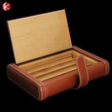 Factory best Brown travel cigar humidor/boxes/holeder,cigarette case for sale