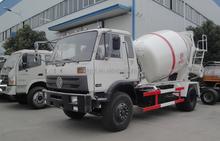 DongFeng 6CBM cement mixing truck , 4x2 concrete pump truck , bulk cement mixer truck