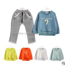 Hot Sales Sports Style Boy Number Seven Coat Sets Autumn Long Sleeve Children Sets