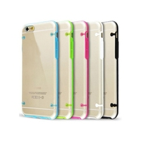 Ultra-Thin Clear Crystal TPU + PC design mobile phone back cover