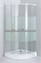 comfortable shower enclosure with chromed aluminium alloy