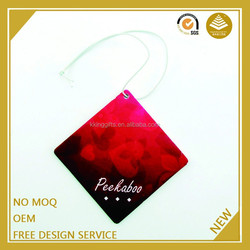 Hot product 2015 hanging car scented custom air freshener made in china