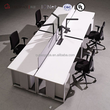 aluminum alloy desk folding computer yind sit stand 8 person conference table