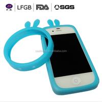 HOT!!! Luminous Elastic Silicone Wrist bracelet Ring Case Bumper phone Case For iPhone / Wrist Ring Case / Silicone Bumper Case