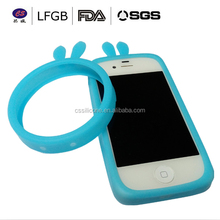 HOT!!! Luminous Elastic Silicone Wrist bracelet Ring Case Bumper phone Case For iPhone / Wrist Ring Case / Silicone Bumper Case