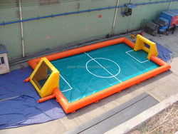 2015 Hot sale portable inflatable soccer field/inflatable soap soccer field