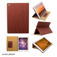 Kakusiga professional wooden pattern pu leather case for ipad 234