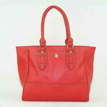 Leather pu tote bag,ladies fashion handbag made in Guangzhou factory 2015