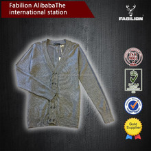 High quality fashion plain cotton wholesale bulk men heavy knitted cheap cardigan sweaters men