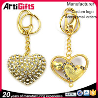 China factory cheap sweet metal heart shape keychain