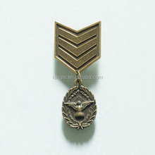 metal badge with gun color plated