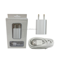 US/EU 5V 1A 2 in 1 Wall Charger Kits + Mirco USB Data Cable With Retail Box Wall charger adapter For iphone 4 5 6