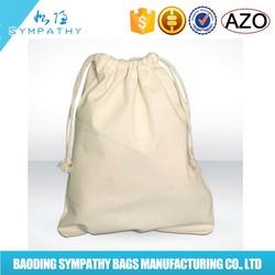 fashion recyclable custom design printed small shopping canvas cotton drawstring bag
