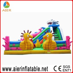 High quality Giant Ocean inflatable slide,inflatable jumping slide for sale