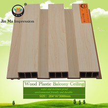 Ecological Wood Plastic Composite WPC Wooden Slats for Walls