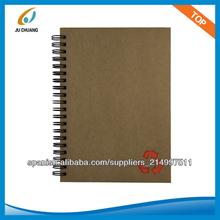 Cuaderno espiral kraft reciclado. custome para la promoción