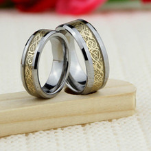 2015 hot sell Fashion Men Flat tungsten ring with real wood inlaid tungsten carbide ring
