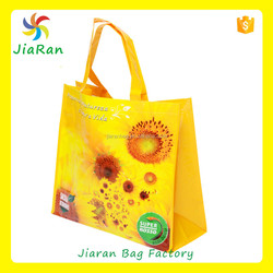 pp woven bag for sale,yellow non woven bag for promotional