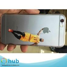 New Pattern Jordan Kobe Lakers NBA basketball stars Transparent PC Back Case Cover For iPhone 5/5s/6/6 Plus