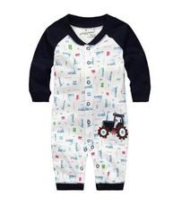 2015 hot sale baby boy long sleeve romper