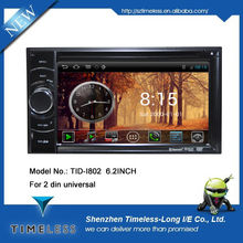 Android 4.0 OS 2 din Car DVD player for 2din universal with GPS Ipod DVR digital TV box BT Radio 3G/Wifi