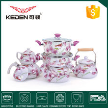 Deep spring traditional color enamel cookware&kettle