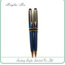 2015 Gift pen metal blue ballpoint custom company logo pen