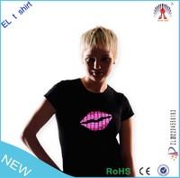 2015 Hotsale best price led flashing t shirt wholesale made in china