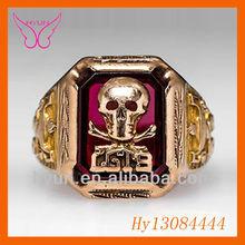 2014 Vintage Gothic Skull Biker Men's Rings New Fashion rings