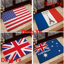 America, France, UK, Australia National Flags Digital Printed Door&Floor Mats