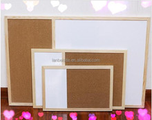 Lb-0311 Combined Cork Board and Whiteboard with wooden frame