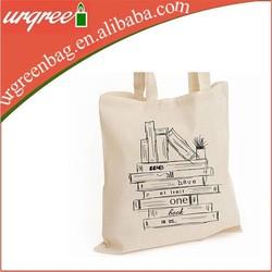 Blank Custom printed Plain white cotton canvas tote bag Wholesale