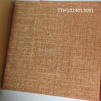 Hign quality linen embossing paper with shining color for notebook / gift box covers