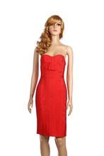 fast delivery back open off shoulder a line bandage red evening dress