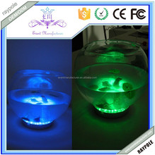 Battery operated under table vase LED centerpiece light base RGB wedding decoration
