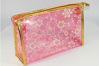cute small size cheap waterproof clear PVC lady cosmetic bag